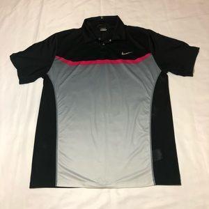 Tiger Woods Nike Dri-Fit Golf Polo Shirt Medium